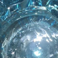 Cenedese 2000s Cenedese Italian Pair of Aquamarine Blue Rostrato Murano Glass Ovoid Vases - 2076216