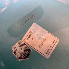 Cenedese Cenedese 1960s Blue Ocean Scavo Murano Glass Oval Vase - 2052877