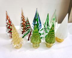 Cenedese Cenedese 1980 Italian Modern Forest Green Spike Murano Glass Tree Sculpture - 2067819