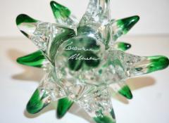 Cenedese Cenedese 1980 Italian Modern Forest Green Spike Murano Glass Tree Sculpture - 2067821