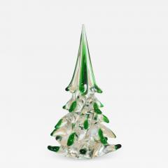 Cenedese Cenedese 1980 Italian Modern Forest Green Spike Murano Glass Tree Sculpture - 2069324