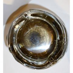 Cenedese Cenedese 1980s Italian Modern Crystal and Gold Murano Glass Urban Sculpture Vase - 1316087