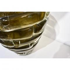 Cenedese Cenedese 1980s Italian Modern Crystal and Gold Murano Glass Urban Sculpture Vase - 1316088