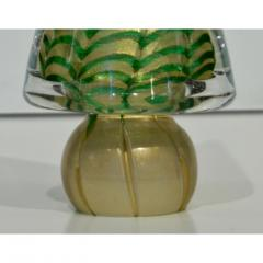 Cenedese Cenedese 1980s Italian Vintage Green and Gold Murano Glass Tree Sculpture - 1446019