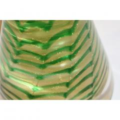 Cenedese Cenedese 1980s Italian Vintage Green and Gold Murano Glass Tree Sculpture - 1446023