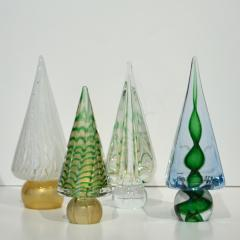 Cenedese Cenedese 1980s Italian Vintage Green and Gold Murano Glass Tree Sculpture - 1660436