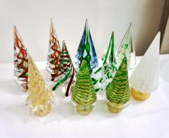 Cenedese Cenedese 1980s Italian Vintage Green and Gold Murano Glass Tree Sculpture - 1660437