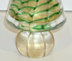 Cenedese Cenedese 1980s Italian Vintage Green and Gold Murano Glass Tree Sculpture - 1660438