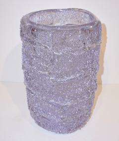 Cenedese Cenedese Italian Pair of Pink Amethyst Aqua Blue Alexandrite Murano Glass Vases - 1059518