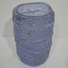 Cenedese Cenedese Italian Pair of Pink Amethyst Aqua Blue Alexandrite Murano Glass Vases - 1059519