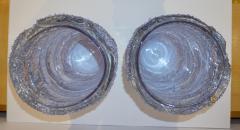 Cenedese Cenedese Italian Pair of Pink Amethyst Aqua Blue Alexandrite Murano Glass Vases - 1059523