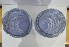 Cenedese Cenedese Italian Pair of Pink Amethyst Aqua Blue Alexandrite Murano Glass Vases - 1059524