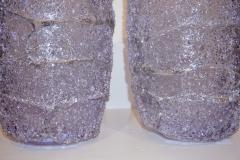 Cenedese Cenedese Italian Pair of Pink Amethyst Aqua Blue Alexandrite Murano Glass Vases - 1059525