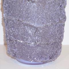 Cenedese Cenedese Italian Pair of Pink Amethyst Aqua Blue Alexandrite Murano Glass Vases - 1059529