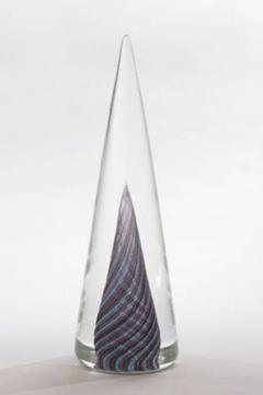Cenedese Set of Three Murano Glass Cone Shaped Decorations by Cenedese - 788534