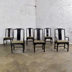 Century Furniture Chin hua dining chairs set six 4 side 2 armchairs by raymond k sobota - 1938894