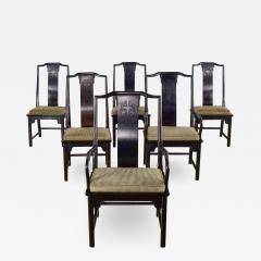 Century Furniture Chin hua dining chairs set six 4 side 2 armchairs by raymond k sobota - 1940576