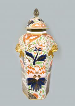 Chamberlain Worcester Chamberlain Worcester Porcelain Imari Large Vase Thumb Finger Design - 1619239