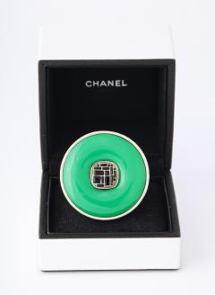 Chanel Chanel Green Glass Onyx Silver Ring - 1193768