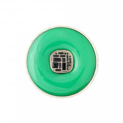Chanel Chanel Green Glass Onyx Silver Ring - 1193811