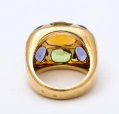Chanel Vintage Chanel Gold Citrine and Semi Precious Stone Ring - 1276979