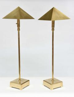 Chapman Manufacturing Company American Pair of Brass Adjustable Table or Floor Lamps Chapman - 364243