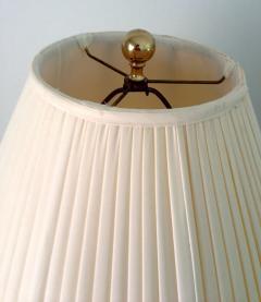 Chapman Manufacturing Company Pair Large Modern Geometrical Urn Shape Brass Lamps - 72373