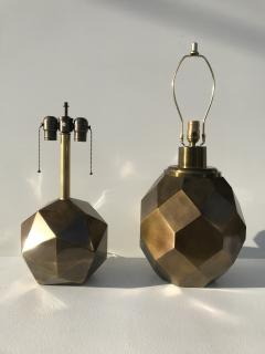 Chapman Manufacturing Company Pair of Geometric Faceted Sphere Lamps by Chapman - 530824