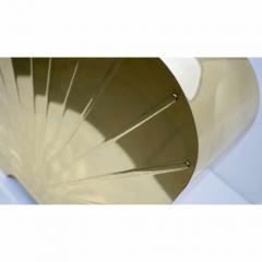 Chapman Mfg Co 1970s Chapman Vintage Art Deco Design Pair of Hollywood Regency Gold Brass Lamps - 1067854