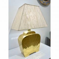 Chapman Mfg Co 1970s Chapman Vintage Art Deco Design Pair of Hollywood Regency Gold Brass Lamps - 1067855