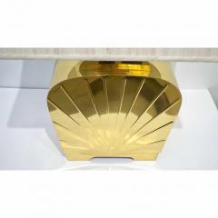 Chapman Mfg Co 1970s Chapman Vintage Art Deco Design Pair of Hollywood Regency Gold Brass Lamps - 1067856