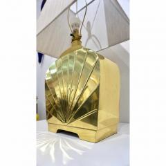 Chapman Mfg Co 1970s Chapman Vintage Art Deco Design Pair of Hollywood Regency Gold Brass Lamps - 1067857