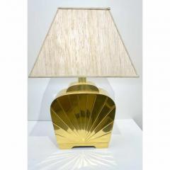Chapman Mfg Co 1970s Chapman Vintage Art Deco Design Pair of Hollywood Regency Gold Brass Lamps - 1067858