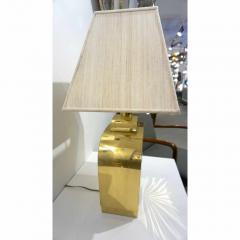 Chapman Mfg Co 1970s Chapman Vintage Art Deco Design Pair of Hollywood Regency Gold Brass Lamps - 1067860