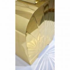 Chapman Mfg Co 1970s Chapman Vintage Art Deco Design Pair of Hollywood Regency Gold Brass Lamps - 1067861
