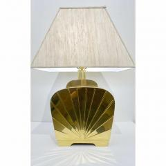 Chapman Mfg Co 1970s Chapman Vintage Art Deco Design Pair of Hollywood Regency Gold Brass Lamps - 1067862