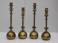 Chapman Mfg Co 1980s Brass Candleholders Attributed To Chapman - 1664642