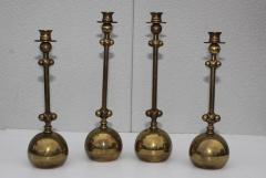 Chapman Mfg Co 1980s Brass Candleholders Attributed To Chapman - 1664643