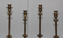 Chapman Mfg Co 1980s Brass Candleholders Attributed To Chapman - 1664645