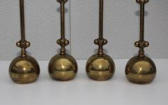 Chapman Mfg Co 1980s Brass Candleholders Attributed To Chapman - 1664646