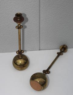 Chapman Mfg Co 1980s Brass Candleholders Attributed To Chapman - 1664650