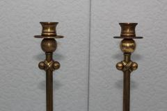 Chapman Mfg Co 1980s Brass Candleholders Attributed To Chapman - 1664652