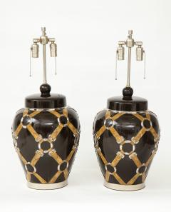 Chapman Mfg Co Gucci Inspired BrownCeramic Lamps by Chapman - 907628