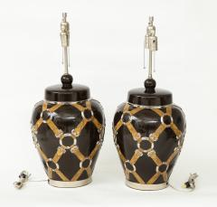 Chapman Mfg Co Gucci Inspired BrownCeramic Lamps by Chapman - 907629
