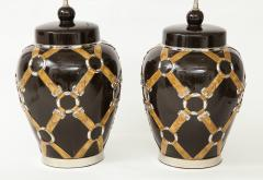 Chapman Mfg Co Gucci Inspired BrownCeramic Lamps by Chapman - 907631