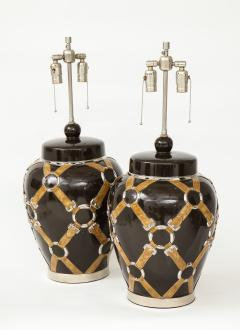 Chapman Mfg Co Gucci Inspired BrownCeramic Lamps by Chapman - 907632