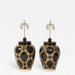Chapman Mfg Co Gucci Inspired BrownCeramic Lamps by Chapman - 908405