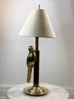 Chapman Mfg Co MODERN STYLIZED PAIR OF SCULPTURAL BRASS PARROT LAMPS - 1162825