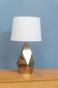 Chapman Mfg Co Mid Century Modern Brass Faceted Lamp - 2054566