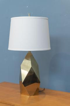 Chapman Mfg Co Mid Century Modern Brass Faceted Lamp - 2054567